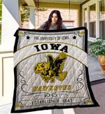 Iowa Hawkeyes Quilt Blanket