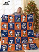 New York Mets Snoopy Quilt Blanket Ver Sp