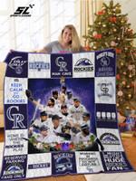 Colorado Rockies Christmas Quilt Blanket