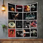 Throwdown Album Covers Quilt Blanket