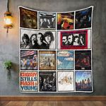 Crosby Stills Nash And Young Album Covers Quilt Blanket