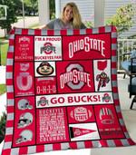 Ohio State Buckeyes Quilt Blanket 05