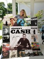 Johnny Cash Quilt Blanket For Fans Ver 17-2