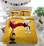 Snoopy And Charlie Brown Custom Bedding Set Duvet Cover