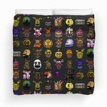 Five Nights At Freddy's Pixel Art Multiple Characters Bedding Set