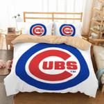 3d Customize Chicago Cubs Custom Bedding Set (Duvet Cover & Pillowcases)