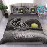 Softball Stuff Vintage Custom Duvet Cover Bedding Set With Your Name
