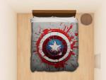 Captain America Avengers Shield #1692 Custom Bedding Set (Duvet Cover &Amp; Pillowcases)