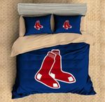 3d Boston Red Sox 3pcs Duvet Cover Set Bedding Set Flat Sheet Pillowcases