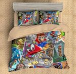 Super Mario Odyssey Duvet Cover Bedding Set