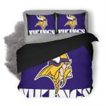 NFL Minnesota Vikings Logo Duvet Cover Bedding Set