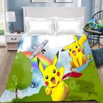 Anime-Cartoon-Pokemon-Pikachu-Children-Bedding-Set-3