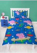 Peppa Pig George Planets Pattern Duvet Cover Bedding Set