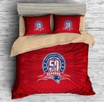 New England Patriots 50 Seasons Duvet Cover Bedding Set
