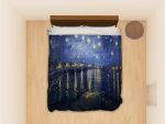 Starry Night Over The Rhone Vincent Van Gogh Bedding Set (Duvet Cover & Pillowcases)