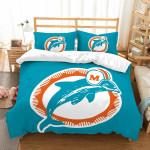 3d Customize Miami Dolphins Bedding Set Duvet Cover Set Bedroom Set Bedlinen