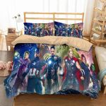 Avengers Superheroes 3D Printed Duvet Cover Bedding Set