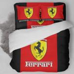 Ferrari Logo Duvet Cover Bedding Set