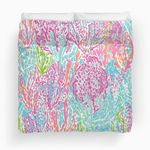 Colorful Lilly Inspired Print Duvet Cover Bedding Set