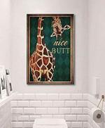 Vintage Giraffe Nice Butt Giraffe Funny Vintage Retro Art Picture Home Wall Decor Vertical No Frame Full Size