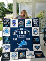 Detroit Lions Quilt Blanket 01