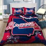 Atlanta Braves B0510210 Bedding Set (Duvet Cover & Pillowcases)