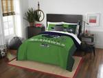 Seattle Seahawks Bedding Set (Duvet Cover & Pillow Cases)