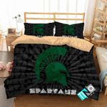 Ncaa Michigan State Spartans 3 Logo N 3d Duvet Cover Bedding Sets