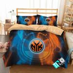Nba New York Knicks Logo 3d Duvet Cover Bedding Set
