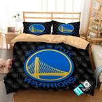 3d Nba Golden State Warriors Logo Duvet Cover Bedding Set