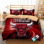 Nba Chicago Bulls 3d Logo Basketball Duvet Cover Bedding Set