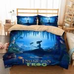 3d The Princess And The Frog Duvet Cover Bedding Set