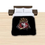 San Francisco 49ers Nfl Team Reversible Duvet Cover Bedding Set