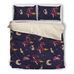 Cat &Amp; Baby Witch - Bedding Set (Duvet Cover & Pillow Cases)