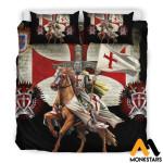 Bedding Set - Knight Templar Black / King (Duvet Cover & Pillow Cases)