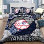 New York Yankees B091092 Bedding Set (Duvet Cover & Pillow Cases)