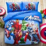 Marvel Avengers Squad 3d Printed Bedding Set (Duvet Cover & Pillow Cases)