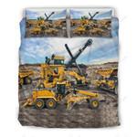 Family Of Heavy Equipment Bulldozer Bedding Set (Duvet Cover & Pillow Cases)