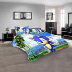 Cartoon Movie Sonic The Hedgehog 3d Bedding Set (Duvet Cover & Pillow Cases)
