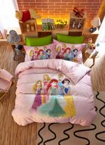 Disney Princess Friendship Adventures Bedding Set For Girls (Duvet Cover & Pillow Cases)