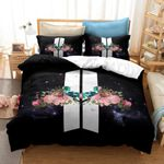 Bts 3d Logo Flowers Bedding Set For Fans (Duvet Cover & Pillow Cases)