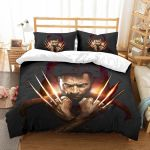 3d Wolverine Logan Duvet Cover Bedding Set