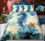 Retro Vintage Seahorse Bedding Sets (Duvet Cover & Pillow Cases)