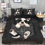 French Bulldog In Pocket Bedding Set For Dog Lovers (Duvet Cover & Pillow Cases)