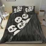 Cute Baby Panda Bedding Set Gift For Panda Love (Duvet Cover & Pillow Cases)