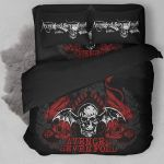 Avenged Sevenfold Logo With Iconic Colors 3d Printed Bedding Set (Duvet Cover & Pillow Cases)