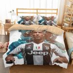 3d Cr7 Juventus Fc Duvet Cover Bedding Set