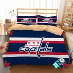 Nhl Washington Capitals 3 Logo 3d Duvet Cover Bedding Sets N