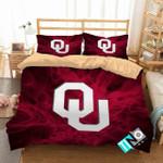 Ncaa Oklahoma Sooners 2 Logo V 3d Duvet Cover Bedding Sets