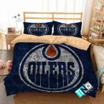 Nhl Edmonton Oilers 1 Logo 3d Duvet Cover Bedding Sets V